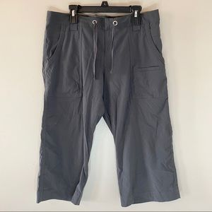 Lucy Charcoal Gray Cropped Cargo Pants